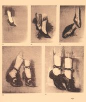Sylvia Pankhurst's drawings of dancing feet