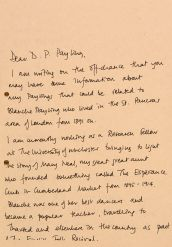 Letter to Mr Payling from Lucy Neal