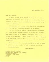 Letter to Mr Kennedy from Fred Pethick-Lawrence
