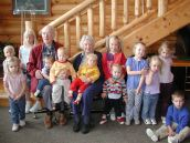 Cicely and her great-grandchildren