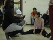 Freddie Opaku-Addaie and dancers on workshop ideas on the Mary Neal Day