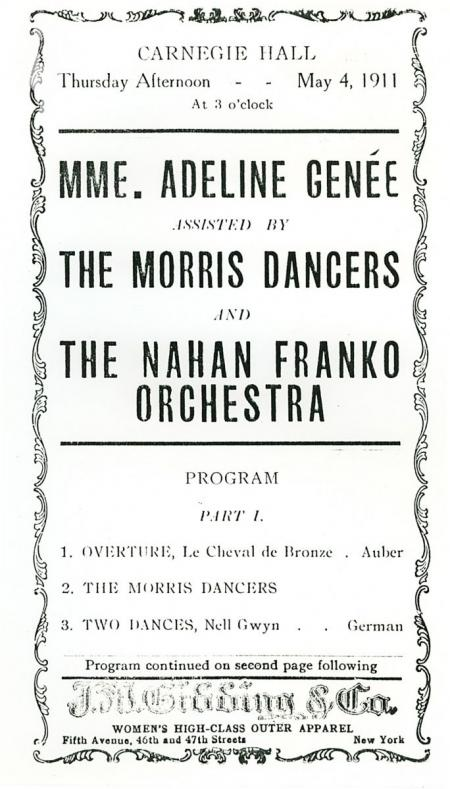 A New York Poster for Carnegie Hall May 1911