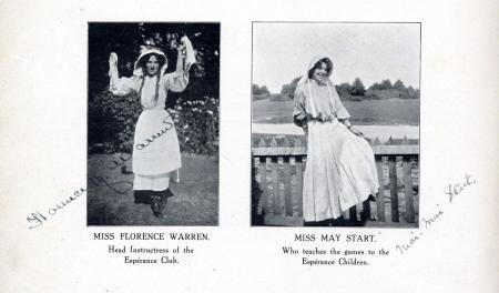Signed photos of Florrie Warren and May Stuart from the Espérance Club Book, Part 1